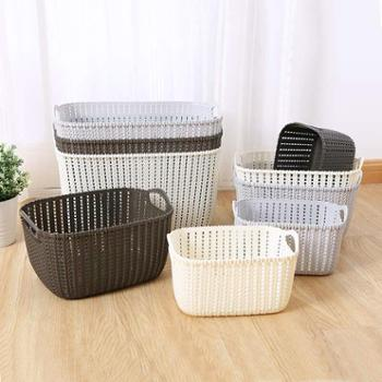 家用藤编脏衣洗衣篮衣篓收纳筐桶塑料装衣服玩具浴室收纳框
