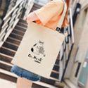 MATERNS玛汀斯 新款简约帆布包女生学生休闲百搭轻便购物袋