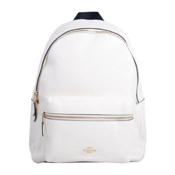 COACH蔻驰 女士大号双肩包 白色F29004