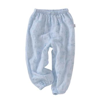 龙之涵纯棉双层纱布灯笼裤防蚊裤