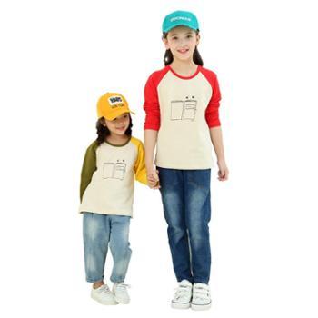 龙之涵儿童卫衣宝宝洋气套头卫衣中大童新款印花上衣T恤