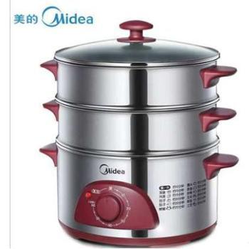 美的(Midea)WSYH26A不锈钢多功能电蒸锅两层大容量