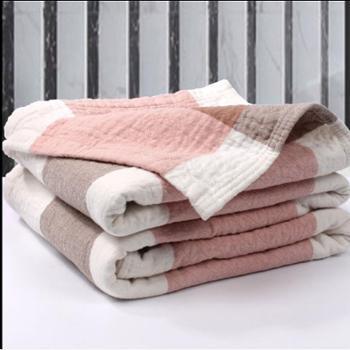 棉沅 毛巾被毯纯棉加厚纱布水洗棉单人双人包邮床单可铺可盖 150cmX200cm