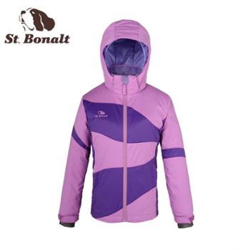 圣伯纳 2014新品儿童滑雪服铺棉外套防风防水保暖上衣外套女中童 14487035