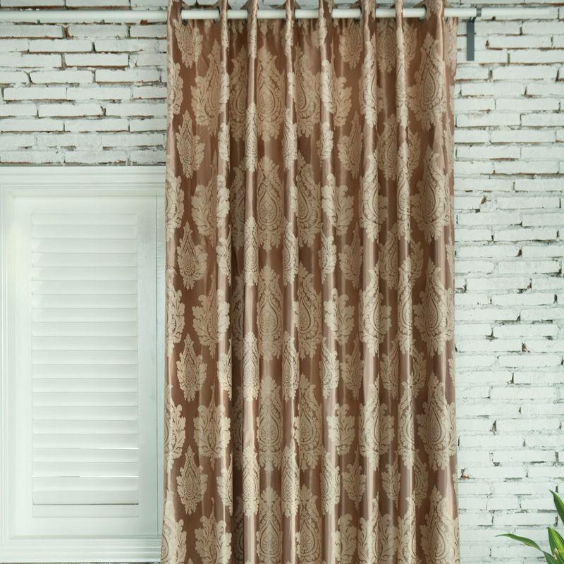 特价清仓成品巴洛克印花欧式提花客厅卧室全遮光窗帘