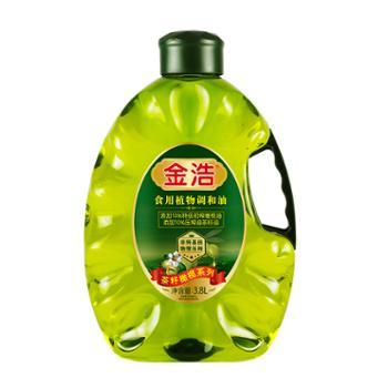 金浩茶籽橄榄食用调和油3.8L添加10%特级初榨橄榄油
