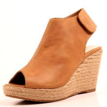 阿俪达 2013真皮新款女鞋 欧美鱼嘴坡跟草编复古凉鞋