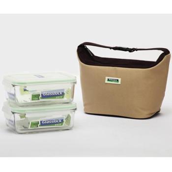 三光云彩韩国进口保温便当包2件套 保鲜盒 密封盒 便当盒 饭盒 GL12P