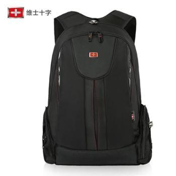 维士十字休闲双肩包男士背包高中大学生书包15.6寸电脑包商务旅行VC3008-LE1001