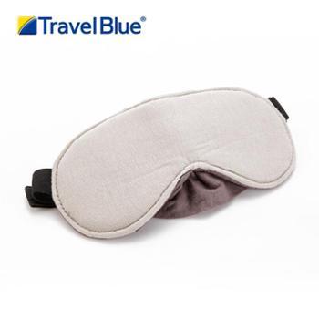 英国TravelBlue/蓝旅舒适型遮光睡眠眼罩灰色可调节高品质眼罩453