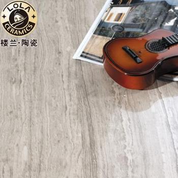 楼兰瓷砖 釉面砖 客厅砖 背景墙 600x1200 灰木纹