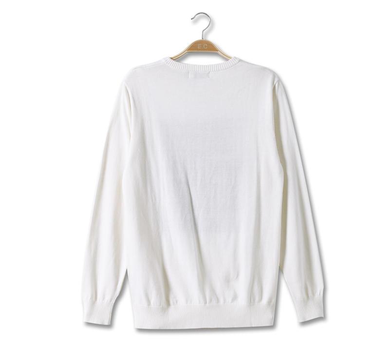 东方骆驼2013秋季新品 男装休闲修身圆领字母印花长袖男线衫2051190