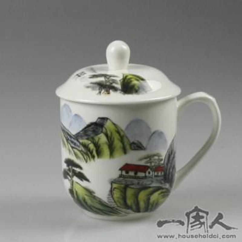 一家人 创意手绘个人杯陶瓷杯子带盖套装办公室家庭水杯大茶杯送礼品