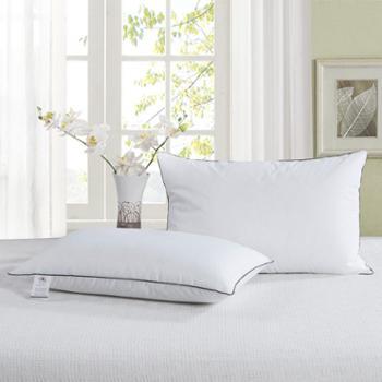 际华家纺单人枕芯成人学生枕头酒店微弹矮枕特价1对