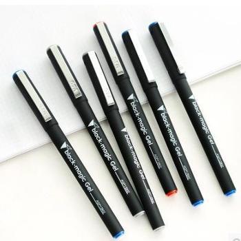 晨光黑骑士中性笔水笔签字笔0.5mm办公、学生一盒12支 黑色