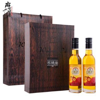 麻田顺康农坊 有机核桃油375m*2瓶礼盒 装核桃油
