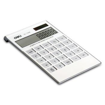 得力(deli)1256 高档面板薄款太阳能计算器(包邮)