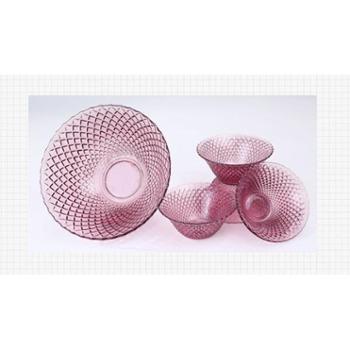 菲米生活 卡帝亚晶彩5件套FM-CB501 4.5寸钻石碗4个、9寸钻石碗