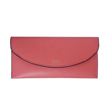 善融优惠GO 限购1件 ELLE 女包时尚简约长款钱包红色E36F1333032