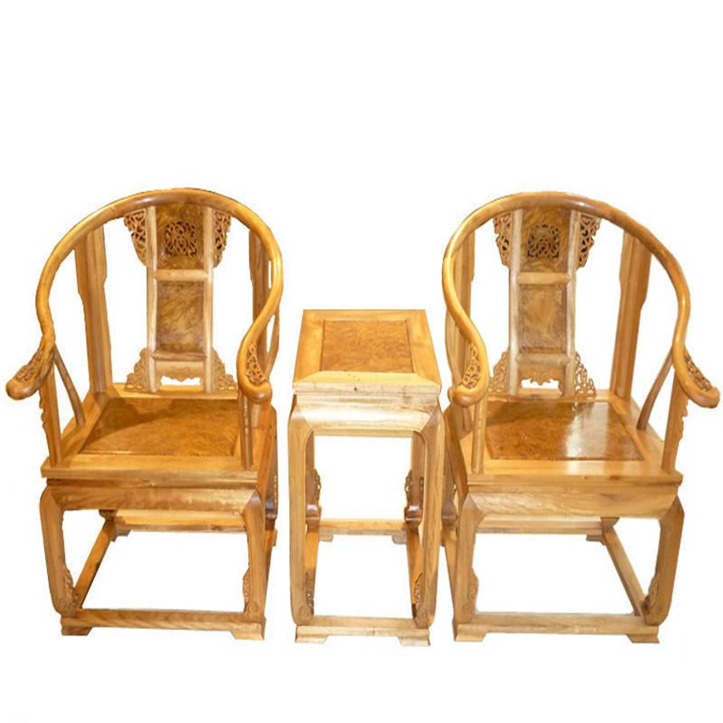 木头记 红木家具 金丝楠皇宫椅三件套