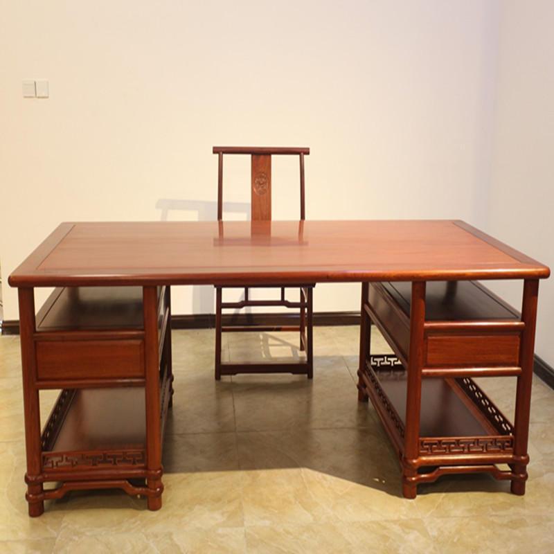 木头记 红木家具 缅甸花梨明式架几案两件套