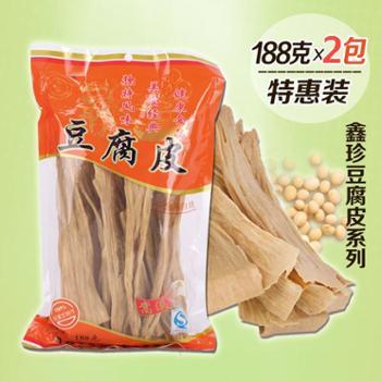 腐竹农家自制福建清流特产手工纯天然豆腐皮农家自制188克*2包