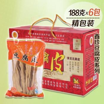 鑫珍豆腐皮清流农家纯手工188g*6袋1箱