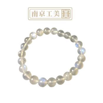 【工美】月光石手链正品保证冰种体蓝光闪烁水晶手串饰品礼物