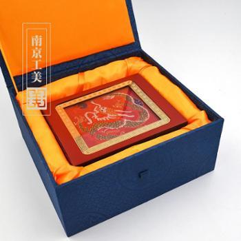 南京云锦 云锦笔筒红小圆龙 特色手工艺礼品摆件 送礼佳品