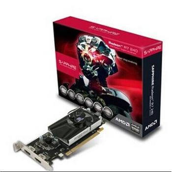 蓝宝石R7 240 2G DDR3 白金版LP HTPC刀卡 双HDMI接口 带矮挡板