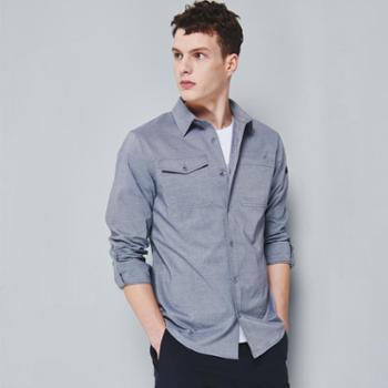 BLACKYAK/布来亚克男装户外休闲长袖衬衫潮流男衬衣可挽袖SCM001