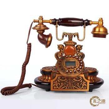 礼之源卢浮世家仿古电话机 金属实木古董电话摆件 欧式家居装饰品