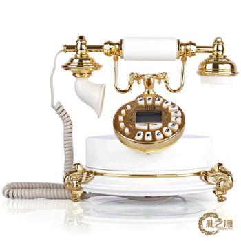 礼之源祈福电话机 金属工艺欧式复古电话机 简约时尚家居装饰精品
