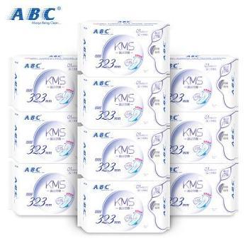 ABC甜睡夜用轻透薄323mm棉柔卫生巾10包共30片
