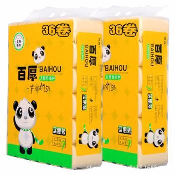 百厚本色卫生纸家用卷纸原浆纸不漂白5.8斤36卷
