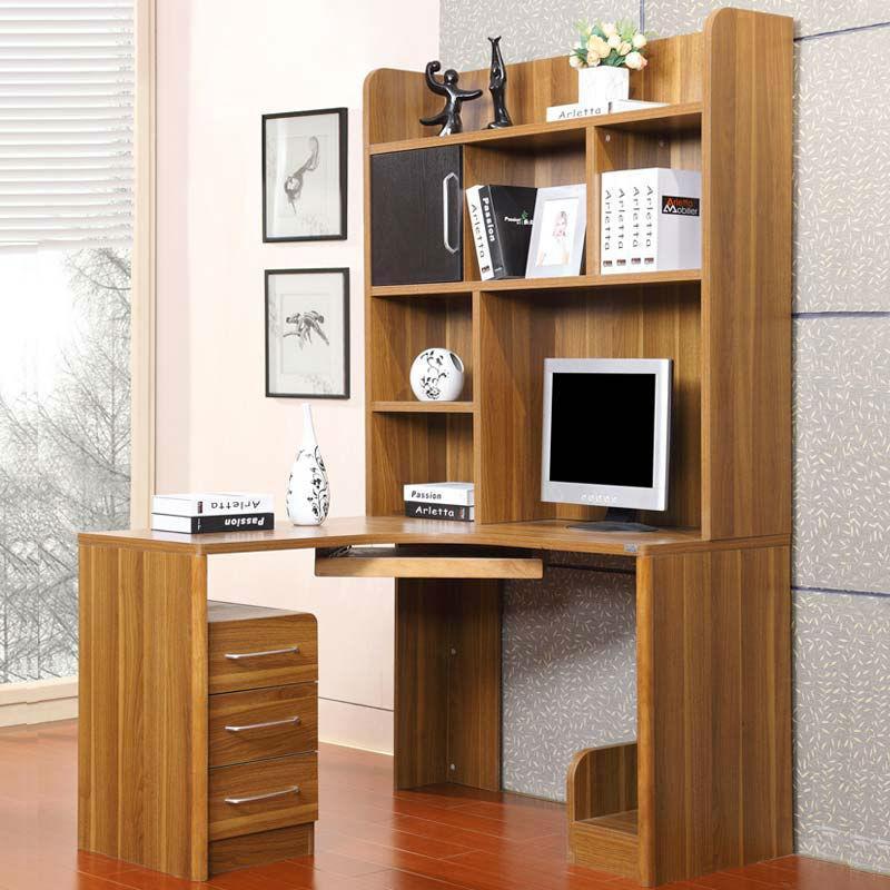 派森家具 木质转角台式电脑桌 书架式电脑桌 青少年书桌 写字台 ps-st
