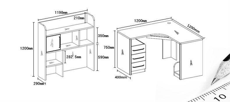 木质转角台式电脑桌