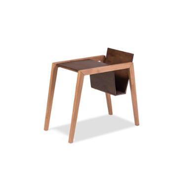 木头公园北欧现代简约客厅书房多功能赤桦木书架 创意小书桌