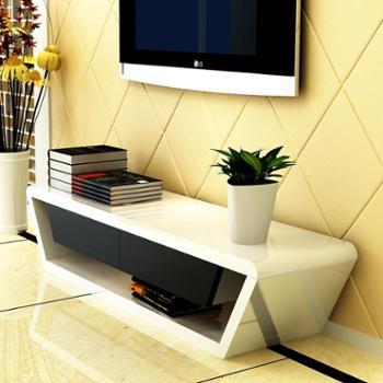 杰希家具简约现代电视柜时尚白色钢琴烤漆客厅双抽屉地柜特价