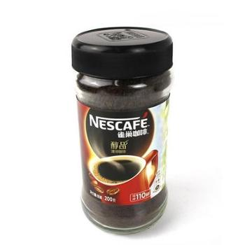 雀巢咖啡醇品 200g瓶装无奶纯黑咖啡速溶咖啡