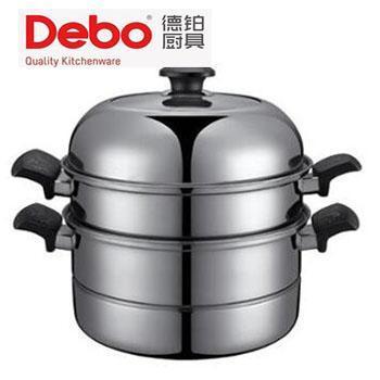 德铂/Debo 卡布里不锈钢汤蒸锅 可视钢化玻璃盖 DEP-112 28cm