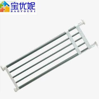 宝优妮DQ0778-5不锈钢衣柜分层隔板整理架免钉可伸缩厨房置物架五管伸缩:50-80cm