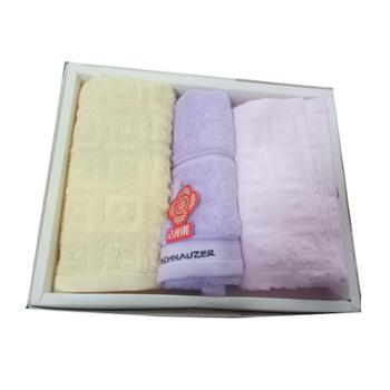 洁丽雅 纯棉亲子三件套礼盒毛巾 414151