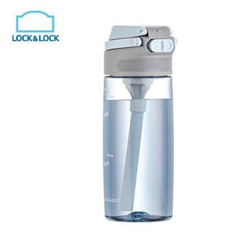 乐扣乐扣 Tritan进口材质不含双酚A带吸管运动水杯 550ml ABF764