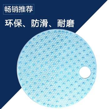动动手圆形浴室防滑垫按摩地垫(直径55cm)
