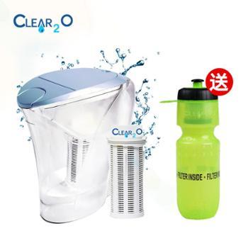 美国可滤美Clear2O过滤水壶中重力壶净水壶净水器家用滤水器