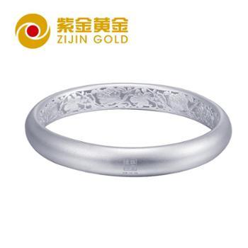 紫金黄金牡紫连心银手环足银手环时尚手环母亲礼物