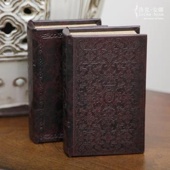 洛克安娜欧式美式复古书盒仿真书装饰书假书盒茶几书柜摆件单本LA026006
