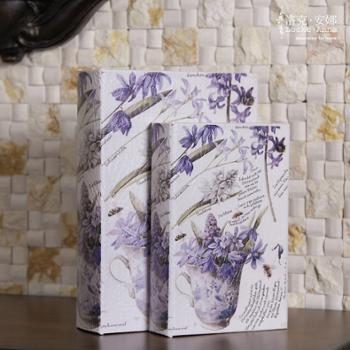 洛克安娜欧式乡村复古仿真书装饰书籍假书盒道具书装饰品摆件LA026020SET