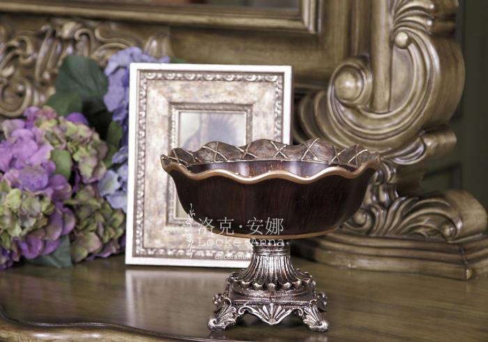 欧式古典复古陶瓷水果盘果盆客厅餐桌家居
